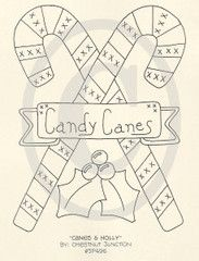 Canes and Holly Embroidery ePattern