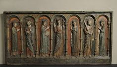 """""""Altar-facing with Christ, the Virgin and Saints Magdalene, Peter, Pantaleon, Paul and Catherine"""" 1220-1240 Unknown Palazzo Madama"""