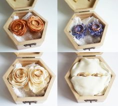 Wedding rings box wedding pillow rustic cotton by MKedraDecoupage, $30.00