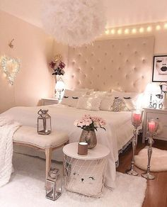 47 Lovely Girly Bedroom Design Creating your room design is one thing that can be both exciting and draining. All people have their own preference […] Bedroom Makeover, Cozy Home Decorating, Industrial Decor Bedroom, Beach Room Decor, Small Room Bedroom, Stylish Bedroom Design, Bedroom Decor, Bedroom Vintage, Dream Rooms
