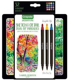 Crayola Signature Sketch & Detail Dual-Tip Markers, Profe... https://www.amazon.com/dp/B0716WRQ9K/ref=cm_sw_r_pi_dp_x_q.hgAb8MF6939