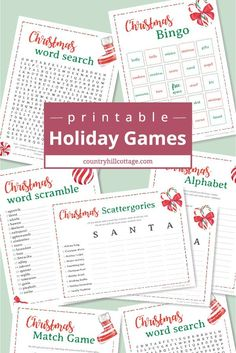 Free Printable Christmas Games for Adults and Older Kids - Trend Girlie Christmas Party 2019 Work Christmas Party Ideas, Free Christmas Games, Christmas Games For Adults, Printable Christmas Games, Christmas Bingo, Holiday Party Games, Holiday Parties, Holiday Fun, Christmas Holidays