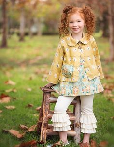 Molly. Little girl tunic and coat. or Dress and coat