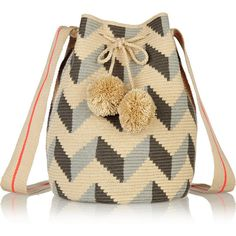 Sophie Anderson Lilla crocheted cotton shoulder bag (€385) ❤ liked on Polyvore featuring bags, handbags, shoulder bags, bolso, neutrals, brown handbags, cotton handbags, colorful purses, beach purse and crochet shoulder bag
