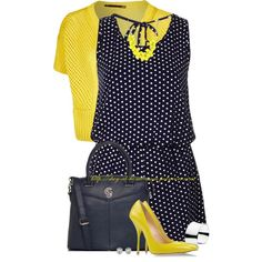 """Polka-Dot Playsuit"" by stay-at-home-mom on Polyvore"