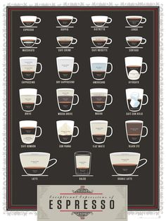 Amazon.de: Pop Chart Lab Exceptional Expressions of Espresso - Poster 46 x 61 cm, mehrfarbig