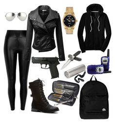 """Spy outfit"" by sophiahoefner ❤ liked on Polyvore"