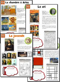 fiches oeuvres d'art: artist of the week with PDF activity sheet. Also has timeline and student evaluation: