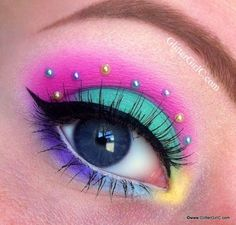 bright & fun eye make-up