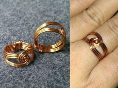 twisted round ring- How to make wire jewelery