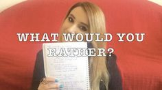 WHAT WOULD YOU RATHER? | Miruna Dima