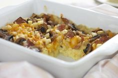 Good Morning Casserole - Eggs, mushrooms, potatoes and bacon.