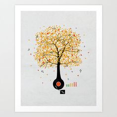 Sounds of Nature Art Print 13 x 16 by DavidEBS on Etsy