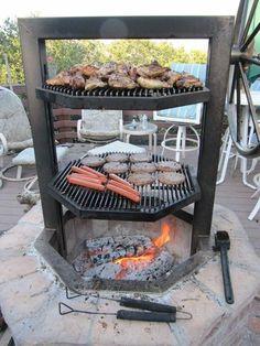 Homemade brick BBQ grill plans BilliardFactory.com