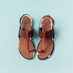 Pelham Sandal / Cole Haan #wanderingsole I LOVE THESE. Brown leather sandals are the bomb.