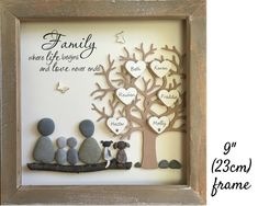 mom art Pebble Art Family Tree picture personalized to your family. Parent Gifts, Gifts For Mum, Gifts For Family, Special Gifts, Adoption Gifts, Adoption Day, Pebble Pictures, Art Pictures, Stone Pictures