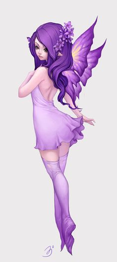 Fairy Purple by maruhana-bachi.deviantart.com on @deviantART