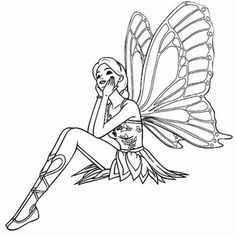 Fairy Sitting Relaxed Coloring For Kids