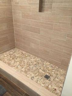 Tile a shower floor full size of bathroom tile ideas wall marble white black images ideas . tile a shower floor gray shower tile bathroom shower tile ideas Pebble Tile Shower Floor, Bathroom Floor Tiles, Shower Bathroom, Glass Bathroom, Bathroom Cabinets, Wall Tiles, Shower Walls, Pebble Tiles, Rock Shower