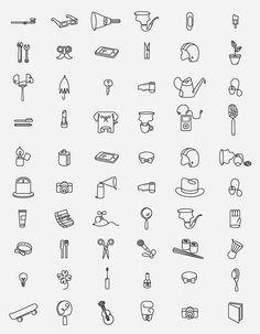 Pictogramas interesantes: Qu'on by This is Pacifica , via Behance Web Design, Icon Design, Logo Design, Flat Design, Sketch Notes, Grafik Design, Line Icon, Icon Set, Typography Design