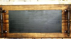 Dark Walnut Chalkboard Tray