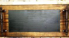 Dark Walnut Chalkboard Tray