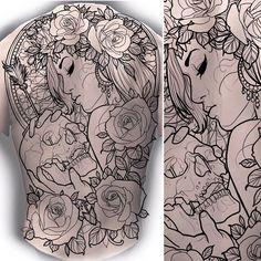 Backpiece up for grabs #tattoo #tattoos #tattooing #tattooist #tattooed #tattooart #tattoodesign #tattooworkers #art #design #drawing #backpiece #backtattoo #artwork #linework #neotrad #neotradsub #neotraditional #newtraditional #uk #uktta #uktattoo #woman #roses #skulltattoo #skull #death #love #instagood #instalike
