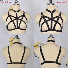Alibaba グループ   AliExpress.comの ガーター からの お客様各位、 私の店への歓迎。新規上場2015.11.21、 送料無料、 注文をお待ちしており。New Valentine's Day gift sexy lingerie Gothic Harajuku harness can adjus 中の セクシー な黒女性ハーネス原宿ケージ ブラジャー ゴシック ボディ ハーネス手作り調整する こと が でき ボンデージ ハーネス ベルト