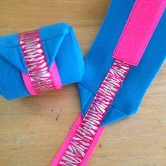 Ribbon trimmed horse polo wraps  www.whinneywear.com www.facebook.com/whinneywear