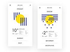 7 examples of playful weather app UIs App Ui Design, Chart Design, Mobile App Design, Layout Design, Dashboard Design, Mobile Ui, Design Design, Design Ideas, Card Ui