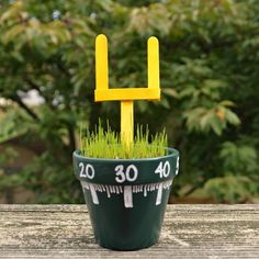 Grow a Centerpiece: Flowers don't exactly exude a game-day vibe. Swap in grass and a mini goal post for the perfect table topper. Amp up your big event with these fun Super Bowl crafts. Garden Crafts For Kids, Summer Crafts For Kids, Diy For Kids, Summer Fun, Clay Pot Crafts, Vbs Crafts, Popsicle Stick Crafts, Craft Stick Crafts, Craft Ideas
