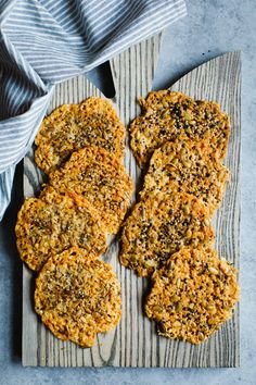 Asiago Seed & Cheese Crisps