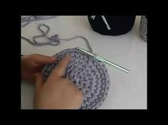 Penye ipten yuvarlak taban (sepet) yapımı 1 - YouTube