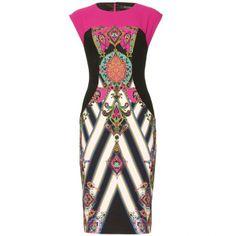 Etro Print Dress by None, via Polyvore
