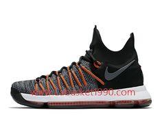 Nike KD 9 Elite 878637_010 Chaussures Nike Prix Pas Cher Pour Homme Noir Brun