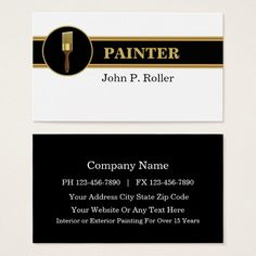 White painters painting services home improvement business card painter business cards colourmoves
