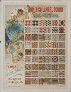 Domenico Lambruschini Fabbrica di Piastrelle in Cemento [Domenico Lambruschini Manufacturers of Cement Tiles]