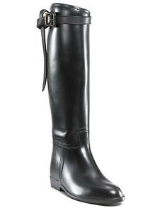 Burberry Rain Boots - Flat Riding Shoes - All Shoes - Bloomingdale's Bootie Boots, Shoe Boots, Women's Shoes, Burberry Rain Boots, Designer Boots, Fall Shoes, Waterproof Boots, Tall Boots, Color Negra
