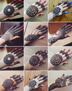 Circle Mehndi Designs, Mehndi Designs For Kids, Floral Henna Designs, Back Hand Mehndi Designs, Mehndi Designs Book, Latest Bridal Mehndi Designs, Stylish Mehndi Designs, Wedding Mehndi Designs, Beautiful Henna Designs
