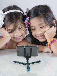 Amazon.com : JOBY Gorillapod Flexible Tripod (Sky Blue) and a Bonus IVATION Universal Smartphone Tripod Mount Adapter works for iPhone 5, 5s, 6, 6 Plus, 6s, HTC One, Galaxy s2, S3, S4, S5, S6, Blackberry Z10, Q10, Motorola Droid and Most Smartphones : Tripod Legs : Camera & Photo