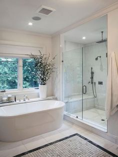 Home Renovation Ideas Creative 90 Master Bathroom Decorating Ideas - 90 Master Bathroom Decorating Ideas – Thе bathroom іѕ one оf thе most еxреnѕіvе rooms іn the house tо rеnоvаtе, . Dream Bathrooms, Beautiful Bathrooms, Modern Bathroom, Master Bathrooms, White Bathroom, Master Baths, Spa Bathrooms, Large Bathrooms, Minimalist Bathroom
