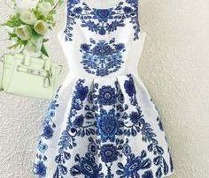 elegant porcelain dress