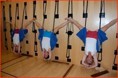 rope Sirsasana, Iyengar Yoga style