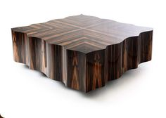 Sofa table Macassar ebony Coffee Table With Storage, Coffee Table Design, Coffee Tables, Distressed Kitchen Tables, Wood Resin Table, Wood Cladding, 3d Max, Center Table, Wood Patterns
