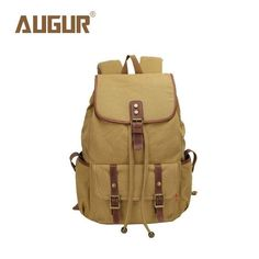 AUGUR Brand New Fashion Backpack Women Mens Designer Backpack Canvas Retro School Bags For Teenagers HT100604