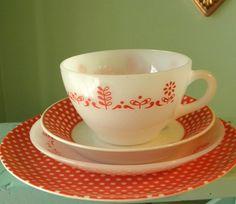 Vintage Teacup and Saucers Fitz and Floyd by Sugarcookielady, $12.00