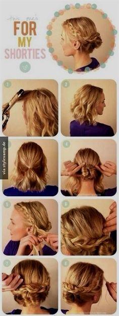 Leichte frisuren mit kurzen haaren