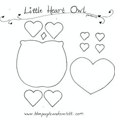 heart owl pattern
