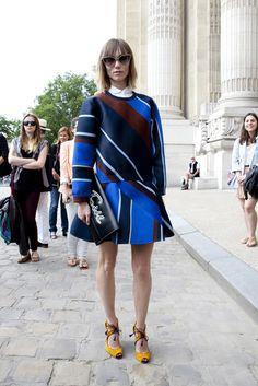 Street look à la Fashion Week haute couture de Paris