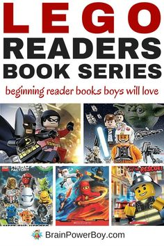 If you have a beginning reader and are looking for books to get your boy hooked on books, you have to check out these LEGO Reader Series Books. There are 12 awesome series guaranteed to get LEGO fans reading. LEGO Star Wars, LEGO CHIMA, LEGO Superheroes and more. Do not miss the LEGO Comic Readers! Click picture to read more about them.